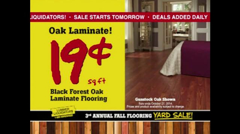 Lumber Liquidators 3rd Annual Fall Flooring Yard Sale TV Spot, 'Deals' - Thumbnail 5