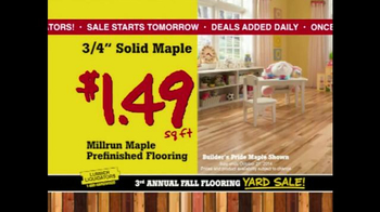 Lumber Liquidators 3rd Annual Fall Flooring Yard Sale TV Spot, 'Deals' - Thumbnail 6
