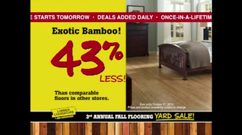 Lumber Liquidators 3rd Annual Fall Flooring Yard Sale TV Spot, 'Deals' - Thumbnail 7
