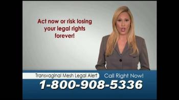 Mostyn Law Firm TV Spot, 'Transvaginal Mesh Legal Alert' - Thumbnail 5