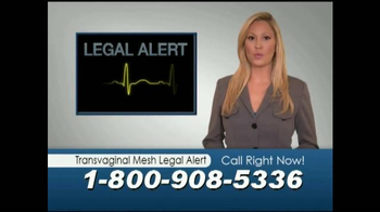 Mostyn Law Firm TV Spot, 'Transvaginal Mesh Legal Alert' - Thumbnail 2