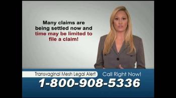 Mostyn Law Firm TV Spot, 'Transvaginal Mesh Legal Alert' - Thumbnail 4