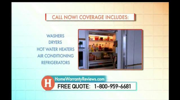 Home Warranty Reviews TV Spot, 'Unexpected Appliance Repairs' - Thumbnail 7