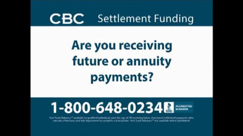 CBC Settlement Funding TV Spot, 'Receiving Future or Annuity Payments?' - Thumbnail 2