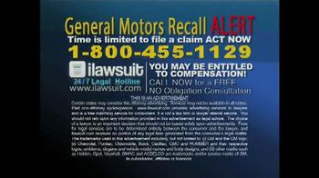 iLawsuit Legal Hotline TV Spot, 'General Motors Recall Alert' - Thumbnail 10
