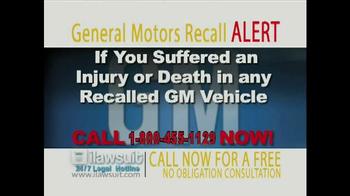 iLawsuit Legal Hotline TV Spot, 'General Motors Recall Alert' - Thumbnail 2