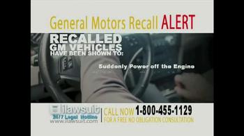 iLawsuit Legal Hotline TV Spot, 'General Motors Recall Alert' - Thumbnail 4