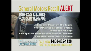 iLawsuit Legal Hotline TV Spot, 'General Motors Recall Alert' - Thumbnail 5