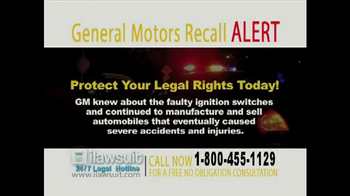 iLawsuit Legal Hotline TV Spot, 'General Motors Recall Alert' - Thumbnail 6