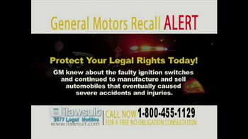 iLawsuit Legal Hotline TV Spot, 'General Motors Recall Alert' - Thumbnail 7