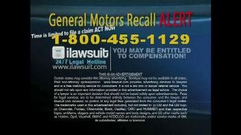 iLawsuit Legal Hotline TV Spot, 'General Motors Recall Alert' - Thumbnail 8