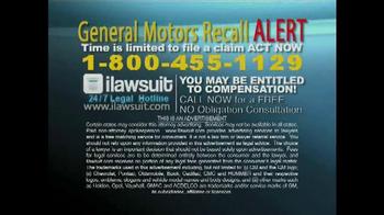 iLawsuit Legal Hotline TV Spot, 'General Motors Recall Alert' - Thumbnail 9