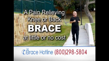 The Brace Hotline TV Spot, 'Severe Back and Knee Pain'
