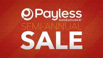 Payless Shoe Source Semi-Annual Sale TV Spot, 'Final Days'