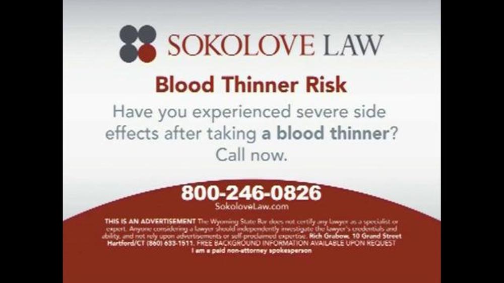 Pulaski Law Firm >> Sokolove Law TV Commercial, 'Blood Thinner Risk' - iSpot.tv