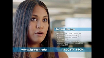 ITT Technical Institute TV Spot, 'Tehani Barton' - Thumbnail 1
