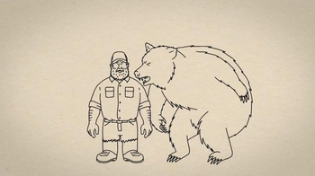 Duluth Trading TV Spot, 'Fire Hose Work Pants vs. a Grab-Happy Grizzly'