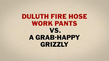 Duluth Trading TV Spot, 'Fire Hose Work Pants vs. a Grab-Happy Grizzly' - Thumbnail 4