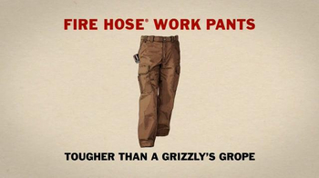 Duluth Trading TV Spot, 'Fire Hose Work Pants vs. a Grab-Happy Grizzly' - Thumbnail 6