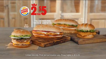Burger King Italian Original Chicken Sandwich TV Spot, '2 For $5: Better' - Thumbnail 6