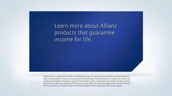 Allianz Corporation TV Spot, 'Guaranteed Income for Life' - Thumbnail 8