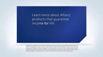 Allianz Corporation TV Spot, 'Guaranteed Income for Life' - Thumbnail 9