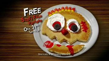 IHOP Free Scary Face Pancake TV Spot, 'Scary Face Pancakes at IHOP' - Thumbnail 10