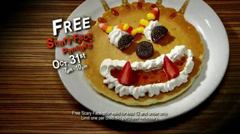 IHOP Free Scary Face Pancake TV Spot, 'Scary Face Pancakes at IHOP'