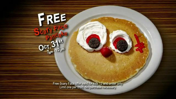 IHOP Free Scary Face Pancake TV Spot, 'Scary Face Pancakes at IHOP' - Thumbnail 9