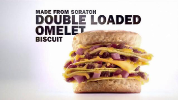 Carl's Jr. Double Loaded Omelet Biscuit TV Spot, 'Baked Fresh' - Thumbnail 10