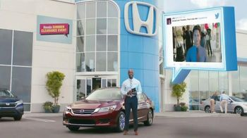 Honda Summer Clearance Event: 2015 Accord TV Spot, 'Promotion - Go Jeffy' - 561 commercial airings