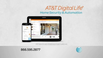 AT&T Digital Life Smart Security TV Spot, 'Protect & Manage Your Home'