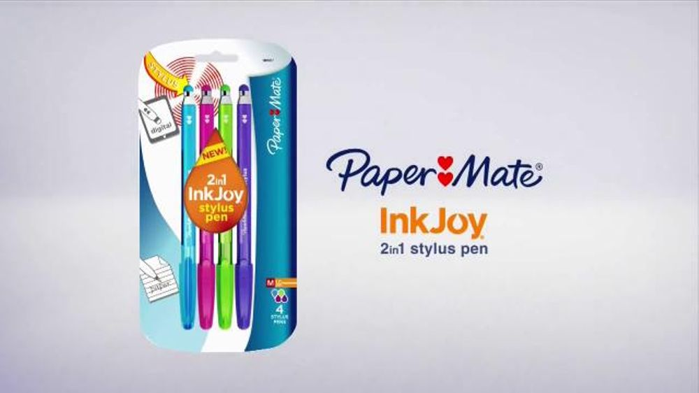 Paper Mate Inkjoy 2in1 Stylus Pen TV Commercial, 'Joy to Your Tablet'