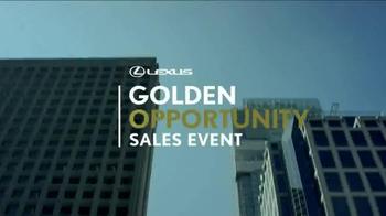 Lexus Golden Opportunity Sales Event TV Spot, 'Venture Further' - Thumbnail 1