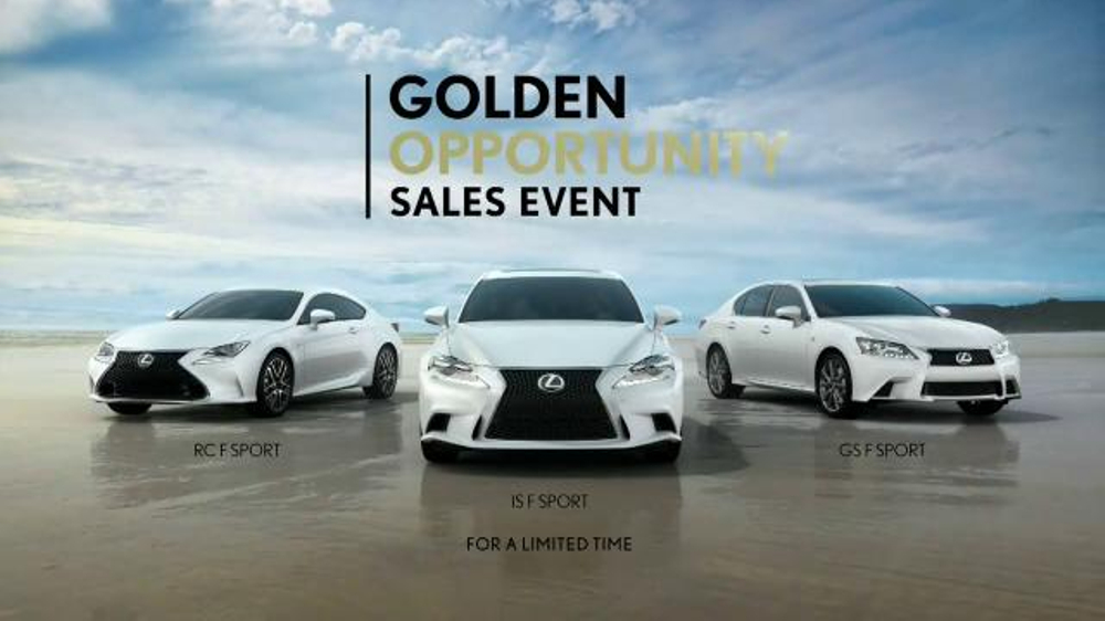 Lexus Golden Opportunity Sales Event Tv Commercial Everyday Thrills Ispot Tv