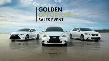 Lexus Golden Opportunity Sales Event TV Spot, 'Everyday Thrills' - Thumbnail 6