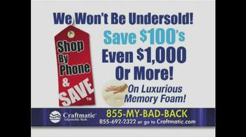Craftmatic TV Spot, 'Pay Less' - Thumbnail 10