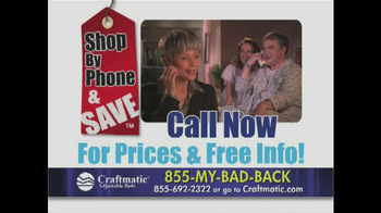Craftmatic TV Spot, 'Pay Less' - Thumbnail 3