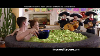FreeCreditScore.com Score Planner TV Spot, 'Guacamole Tub' - 1430 commercial airings