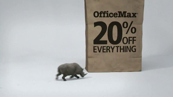 Office Max TV Spot, '20% Off Everything Bag: Rhino' - Thumbnail 1