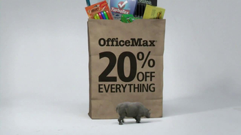 Office Max TV Spot, '20% Off Everything Bag: Rhino' - Thumbnail 2