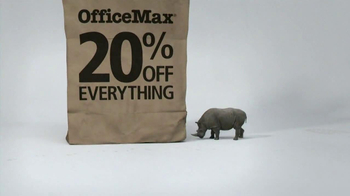 Office Max TV Spot, '20% Off Everything Bag: Rhino' - Thumbnail 3