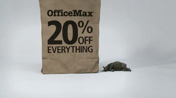Office Max TV Spot, '20% Off Everything Bag: Rhino' - Thumbnail 4