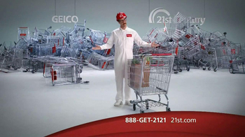 21st Century Insurance TV Spot, 'Falling Shopping Carts'