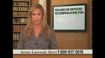 Weitz and Luxenberg TV Spot, 'Actos Lawsuit' - Thumbnail 9