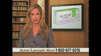 Weitz and Luxenberg TV Spot, 'Actos Lawsuit' - Thumbnail 2