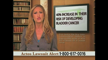 Weitz and Luxenberg TV Spot, 'Actos Lawsuit' - Thumbnail 3