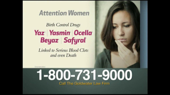 Goldwater Law Firm TV Spot, 'Attention Women'