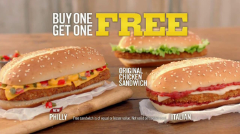 Burger King Original Chicken Sandwich TV Spot, 'Buy 1, Get 1' - Thumbnail 2