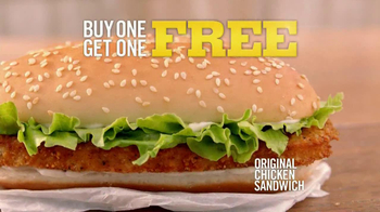 Burger King Original Chicken Sandwich TV Spot, 'Buy 1, Get 1' - Thumbnail 3